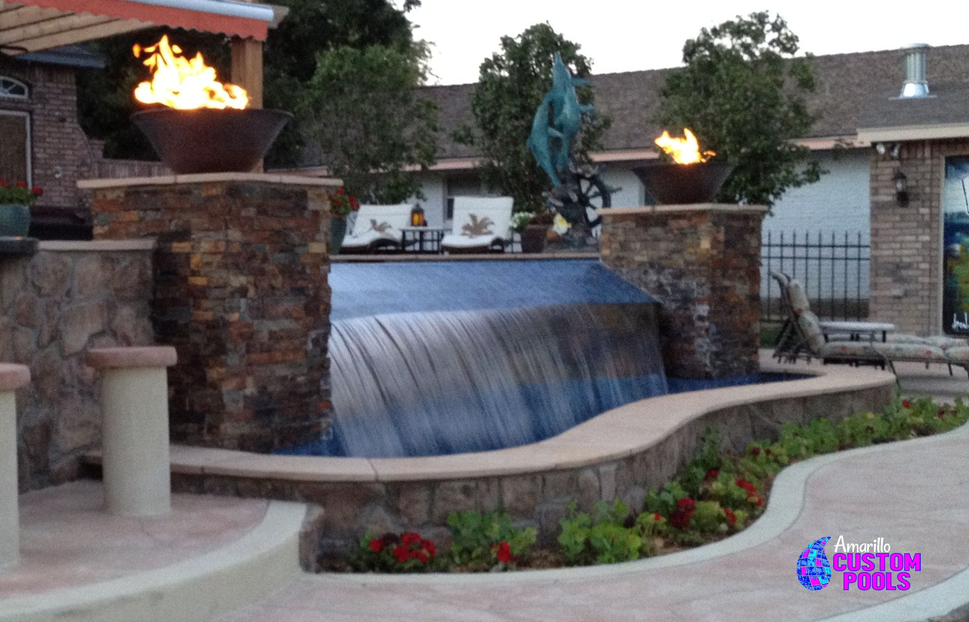 custom water features amarillo, texas | new pool construction