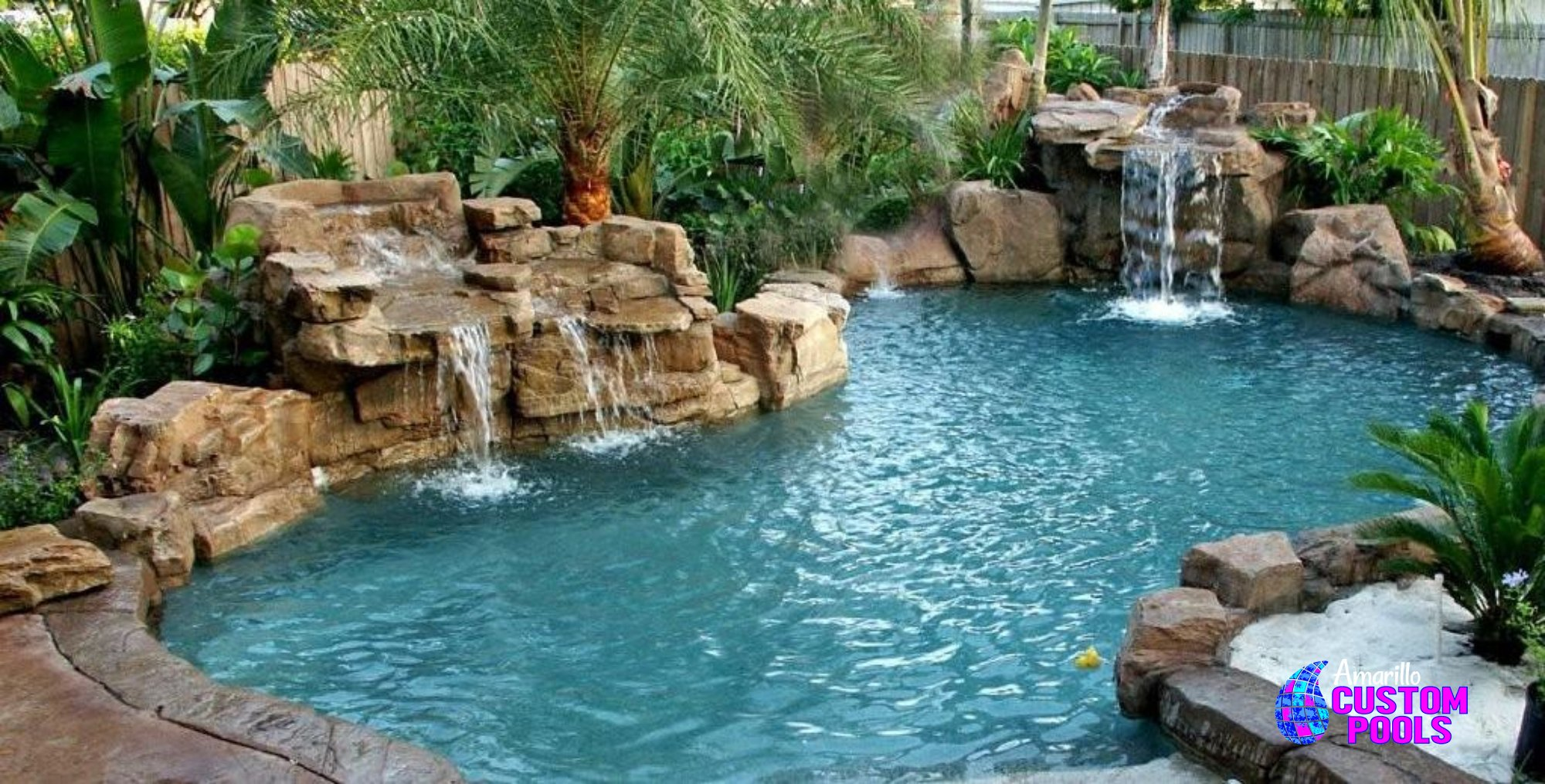 Custom water features amarillo texas new pool for Custom pools