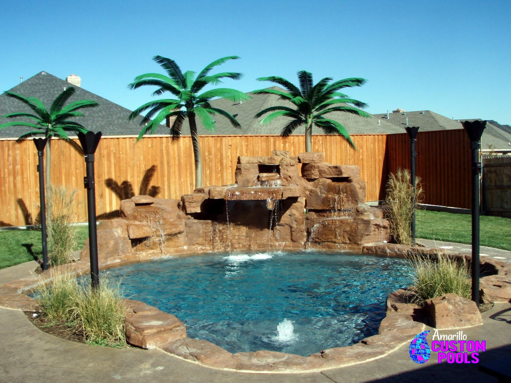Custom gunite pool construction amarillo texas for Custom indoor pools