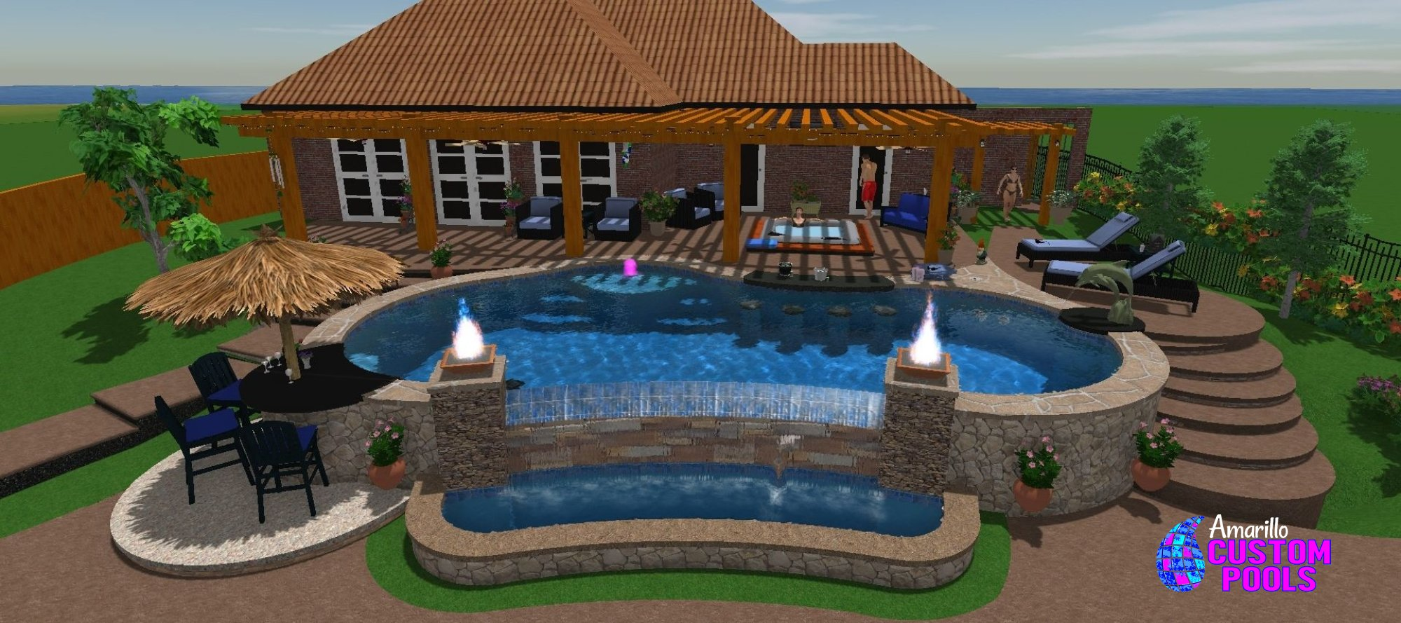 Swimming pool design services amarillo texas for Pool design services