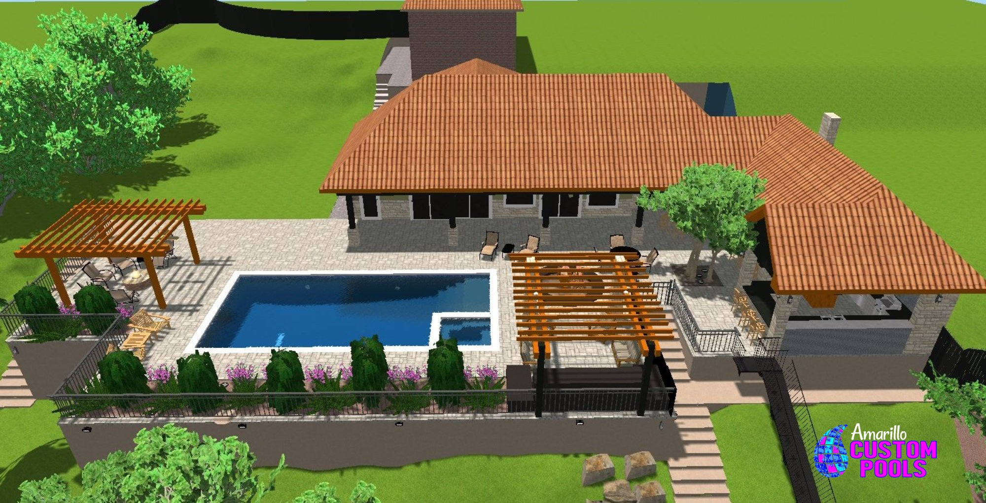 Custom Pools By Design main gallery custom pool Design Service 006 By Amarillo Custom Pools