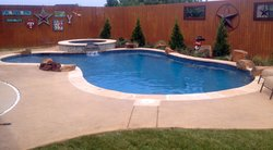 Stamped Concrete #001 by Amarillo Custom Pools